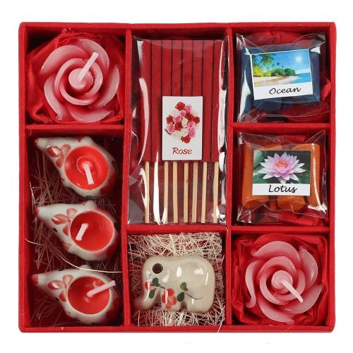 Red Elephant Incense & Candle Gift Set